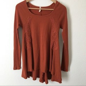 Free People | Crochet Embroidered Thermal Top